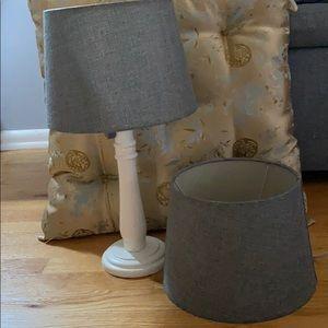 Set 2 Gray Lampshades. Gray linen look. 7X10